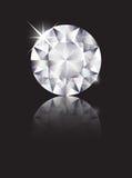 Il diamante ha riflesso Fotografia Stock Libera da Diritti
