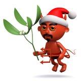 il diavolo 3d ha certo vischio di Natale Fotografia Stock