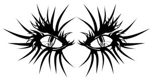 Il diavolo eyes il tatuaggio Fotografia Stock
