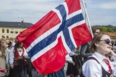 Il diciassettesimo di può, la festa nazionale della Norvegia Immagini Stock Libere da Diritti
