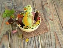 Il dinosauro è fatto del gelato Immagini Stock