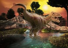 Il dinosauro 3D rende Fotografia Stock Libera da Diritti