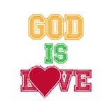 Il dio è amore royalty illustrazione gratis