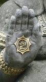 Il dio indù, ganesha, con la sua palma stesa fotografia stock libera da diritti