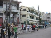 Il disastro dell'Haiti Immagini Stock