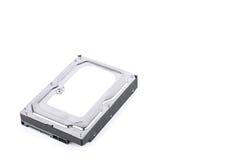 Il disco rigido è l'archiviazione di dati per il computer di dati digitali sulla tecnologia bianca del disco rigido del fondo iso Immagini Stock Libere da Diritti