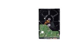 Il disco rigido del bordo è l'archiviazione di dati per il computer di dati digitali sulla tecnologia bianca del disco rigido del Immagine Stock