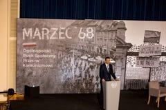 Il discorso del presidente del Consiglio dei Ministri della Repubblica di Polonia - Mateusz Morawiecki Immagine Stock