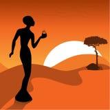 Il disegno africano Immagini Stock