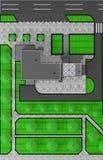 Il disegno architettonico di edificio pubblico illustrazione vettoriale