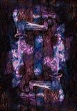 Il disegno decorativo del fondo dell'acqua cataloga le stelle di versamento Fotografie Stock