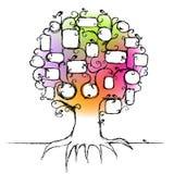Il disegno dell'albero di famiglia, inserisce le vostre foto Immagini Stock Libere da Diritti