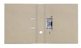 Il dispositivo di piegatura ricicla il documento su priorità bassa bianca Fotografie Stock