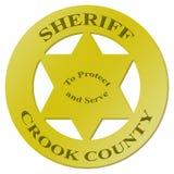 Il distintivo dello sceriffo con testo Fotografia Stock Libera da Diritti