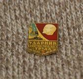 Il distintivo sovietico Immagini Stock Libere da Diritti