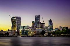 Il distretto della banca di Londra centrale, Regno Unito Fotografia Stock Libera da Diritti
