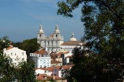 Il distretto di Alfama di Lisbona Fotografia Stock Libera da Diritti