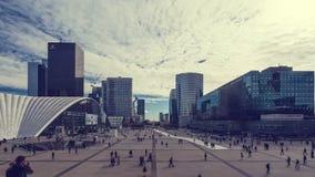 Il distretto finanziario di Parigi video d archivio