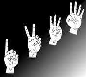 Il dito trova uno, due, tre Fotografia Stock Libera da Diritti