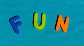 Il divertimento di parola composto dalle lettere fotografie stock libere da diritti
