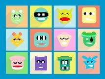 Il divertimento pastello del carattere, sceglie il vostro carattere Immagini Stock