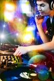 Il DJ Immagine Stock