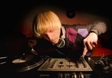 Il DJ fotografia stock libera da diritti