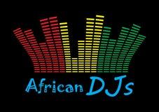 Il DJ africano Fotografia Stock Libera da Diritti