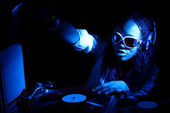 Il DJ Afro american Immagine Stock