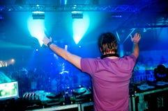 Il DJ al concerto Immagini Stock Libere da Diritti