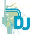 IL DJ CD COPRE o aletta di filatoio Fotografia Stock