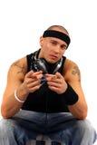 Il DJ che indica voi Fotografie Stock