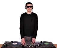 Il DJ con gli occhiali da sole Immagine Stock Libera da Diritti