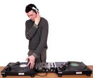 Il DJ con le cuffie Fotografia Stock