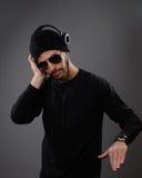 Il DJ con le cuffie Immagine Stock Libera da Diritti