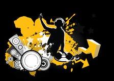 Il DJ, concetto di musica illustrazione vettoriale