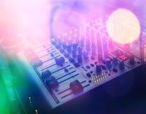 Il DJ consola Fotografia Stock Libera da Diritti