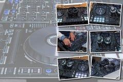 Il DJ consola per gli esperimenti con musica fotografia stock libera da diritti
