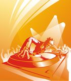 Il DJ, disco-puleggia tenditrice Fotografie Stock