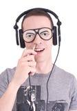 Il DJ divertente fotografia stock