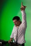 Il DJ felice Fotografia Stock Libera da Diritti