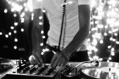 Il DJ freddo Fotografie Stock