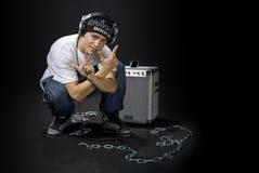 Il DJ freddo Immagini Stock