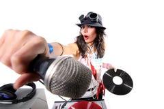 Il DJ freddo nell'azione Fotografie Stock