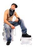 Il DJ freddo sta distendendosi Immagine Stock