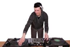 Il DJ gioca la musica Immagini Stock