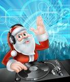 Il DJ il Babbo Natale Fotografia Stock