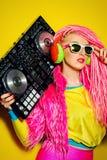 Il DJ intelligente Immagine Stock