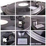Il DJ lavora il collage Immagini Stock