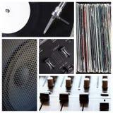 Il DJ lavora il collage Fotografia Stock Libera da Diritti